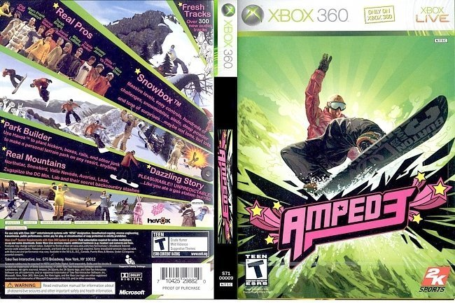 dvd cover Amped 3 NTSC