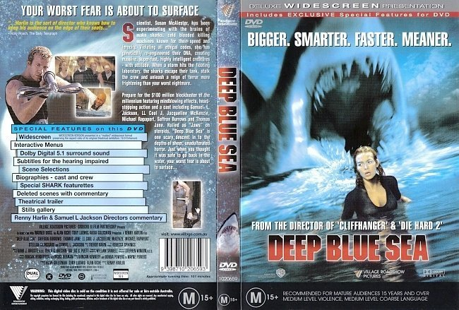 dvd cover Deep Blue Sea
