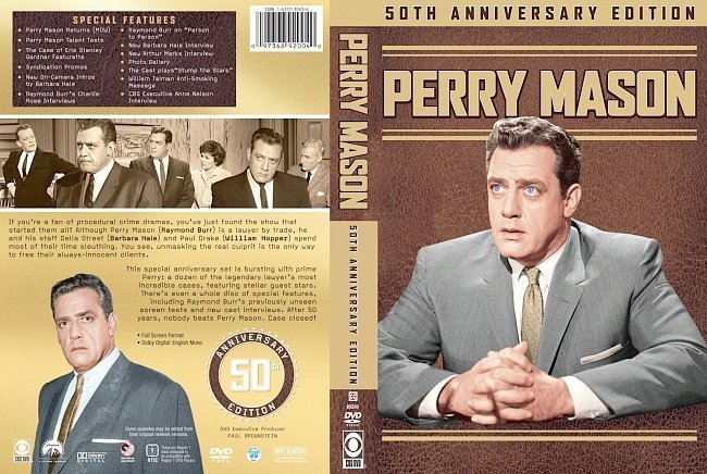 dvd cover Perry Mason 50th Anniversary Edition