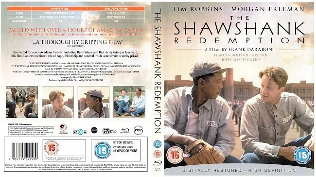 dvd cover The Shawshank Redemption (1994) R2