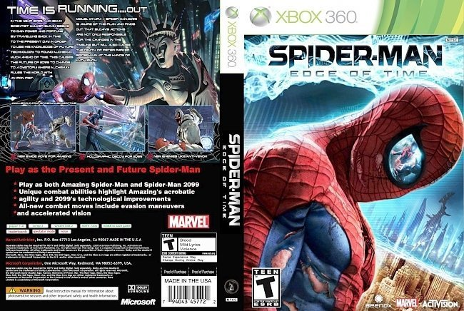 dvd cover Spider Man Edge of Time
