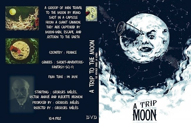 dvd cover A Trip to the Moon (1902) - front