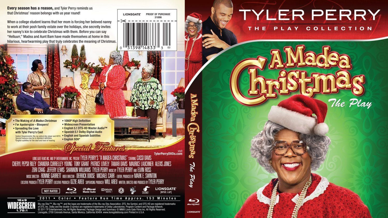 Madea Christmas Full Play.Tyler Perry A Madea Christmas Dvd Covers And Labels