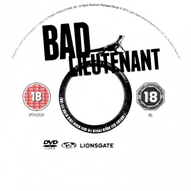 dvd cover Bad Lieutenant: Port Of Call - New Orleans (2009) R2 & R4