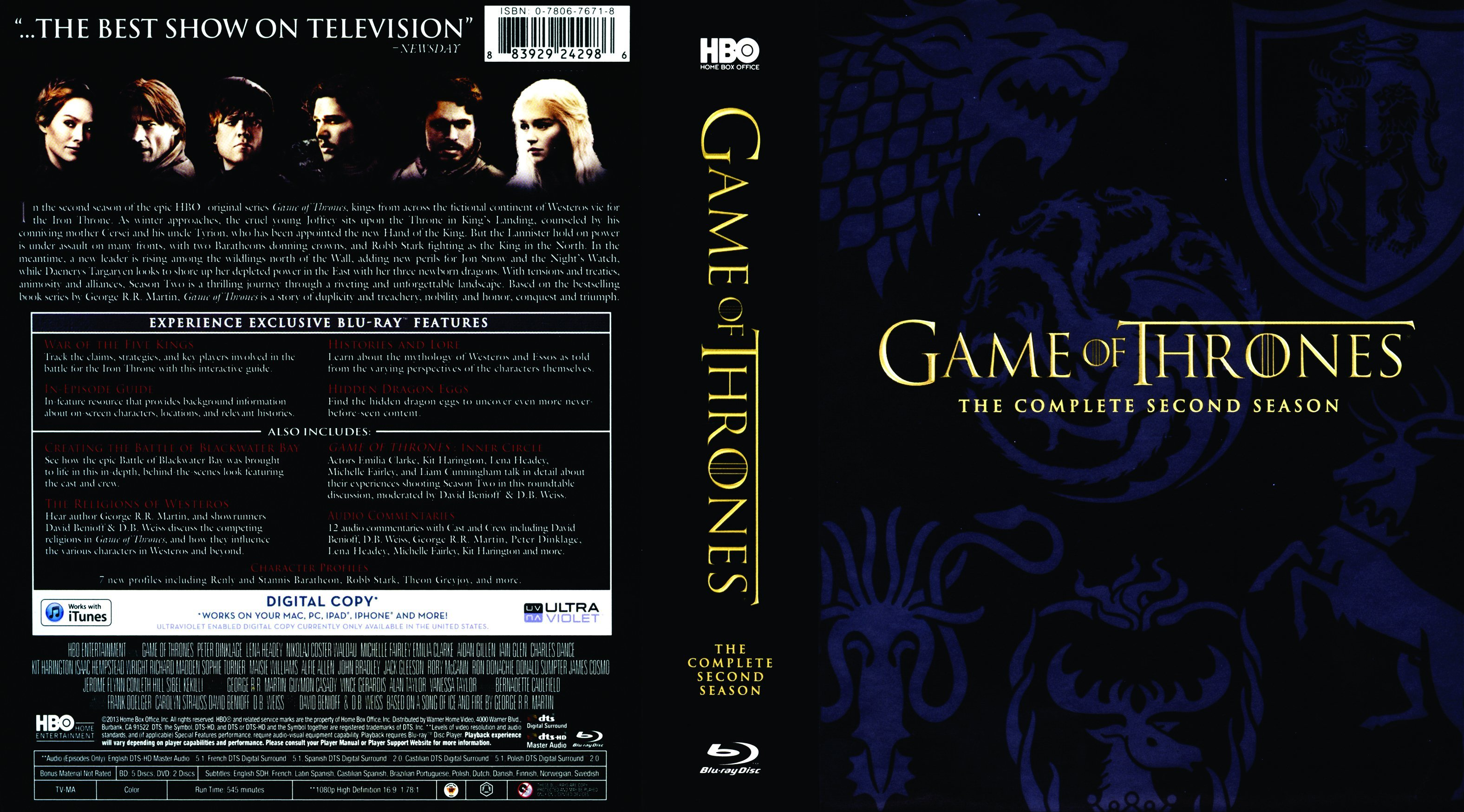 game of thrones season 2 r1 blu ray dvd covers and labels. Black Bedroom Furniture Sets. Home Design Ideas