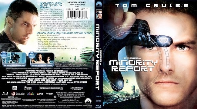 dvd cover Minority Report4
