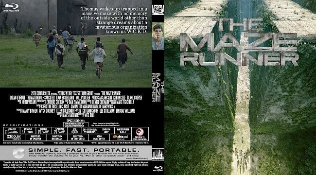 dvd cover The Maze Runner R0 Custom Blu-Ray