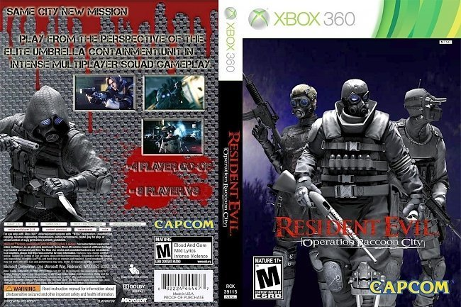 dvd cover Resident Evil: Operation Raccoon