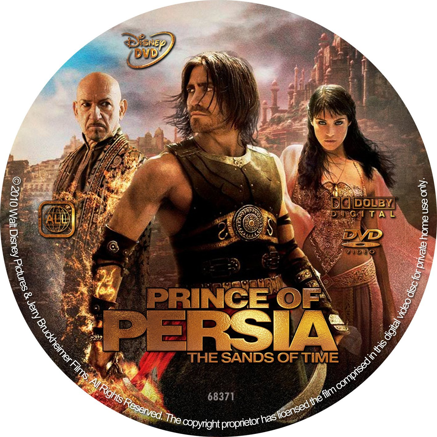Prince Of Persia The Sands Of Time 2010 R2 Dvd Covers And Labels
