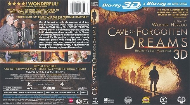 dvd cover Cave of Forgotten Dreams (2010) WS R1 3D