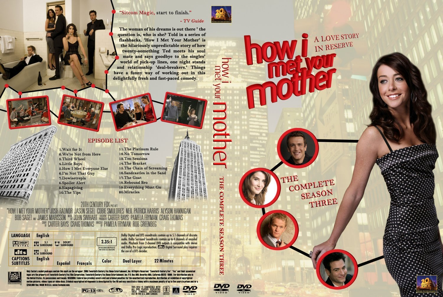 How i met your mother season 3 dvd covers and labels how i met your mother season 3 ccuart Images