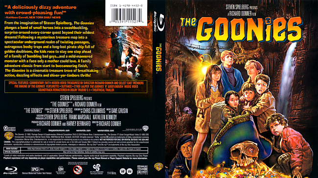 dvd cover The Goonies