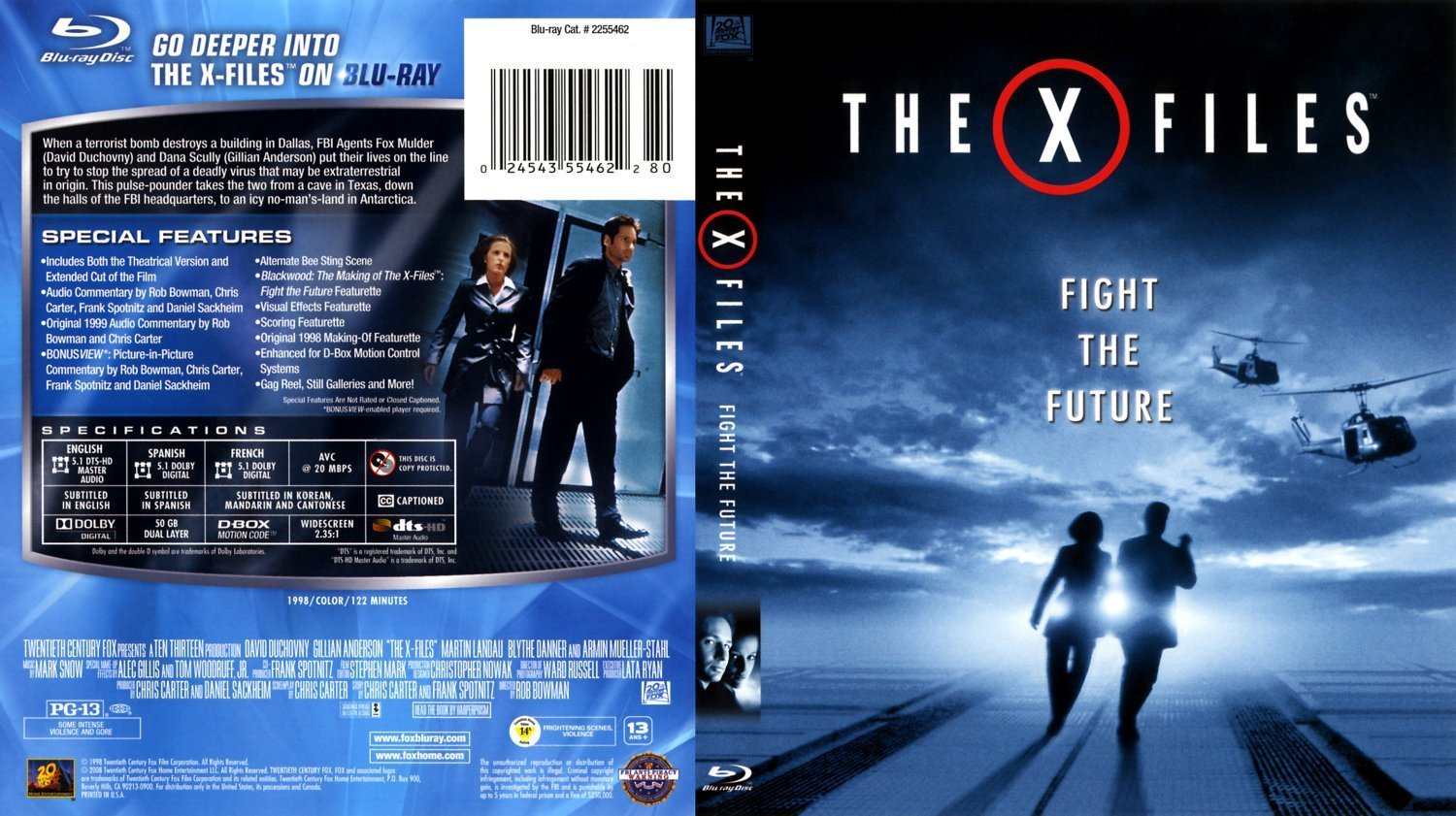 X Files Fight The Future Bluray Bostont Dvd Covers And Labels