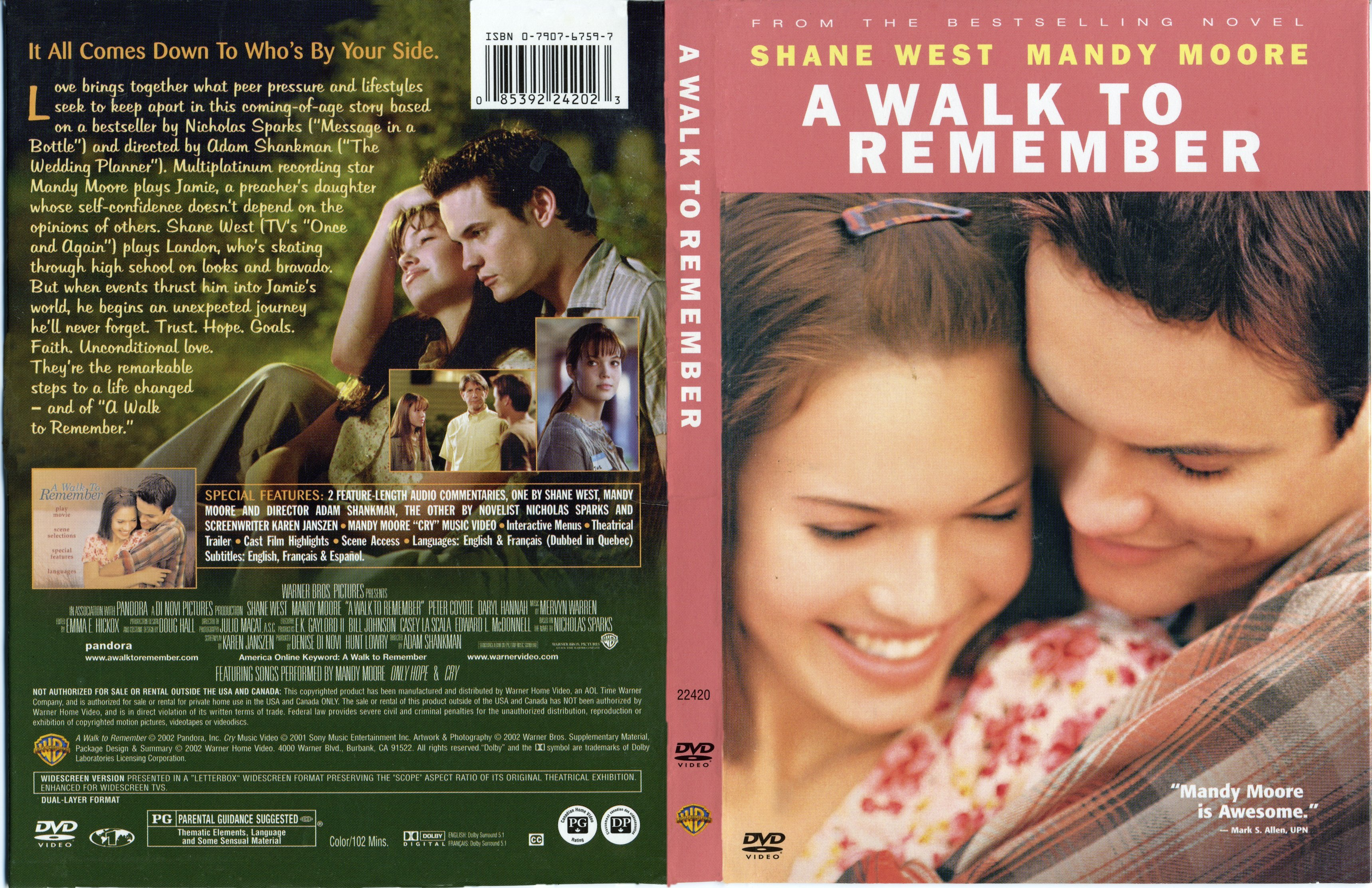 A walk to remember movie cover