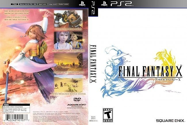 dvd cover Final Fantasy X