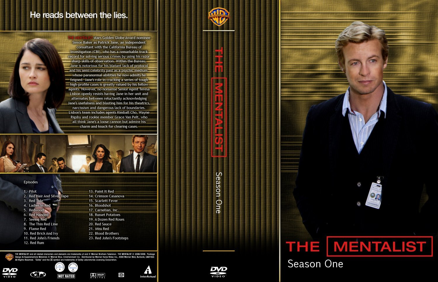 The Mentalist Season 1 | Dvd Covers and Labels