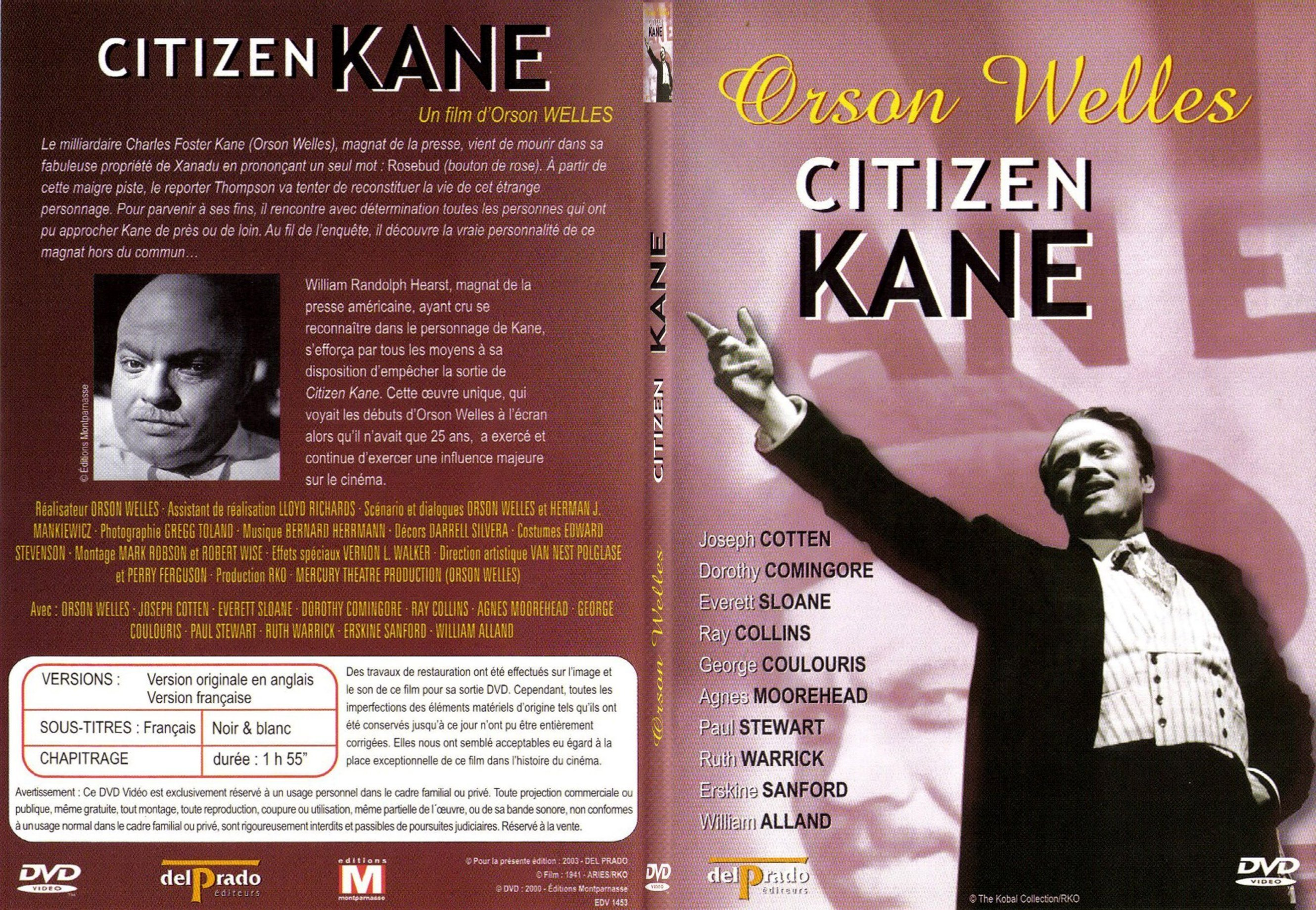 a comparison of the films citizen kane directed by orson welles and joseph sternberg the scarlet emp + produced, wrote, directed 500 films + fantastic and bizarre + use of color + directed by orson welles + director of citizen kane.