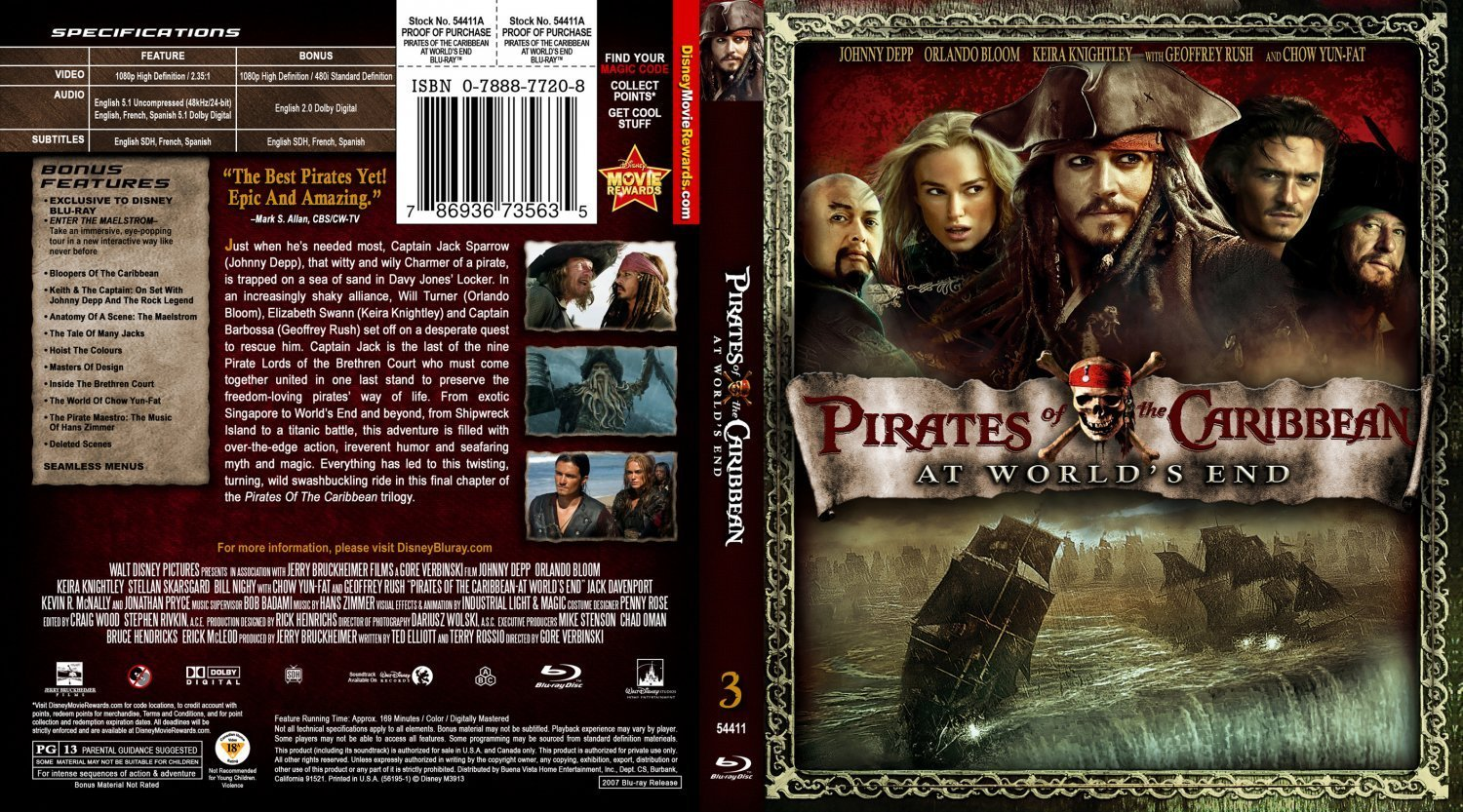 Pirates Of The Caribbean At World's End | Dvd Covers and Labels