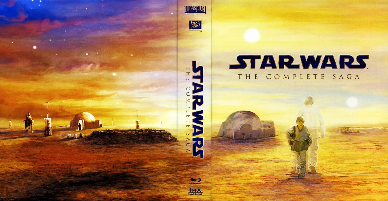 star wars the complete saga discs 1 6 bluray dvd covers