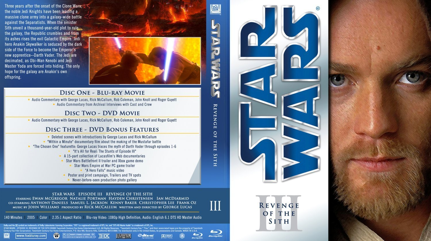 Star Wars Episode Iii Revenge Of The Sith Bluray V4 Dvd Covers And Labels