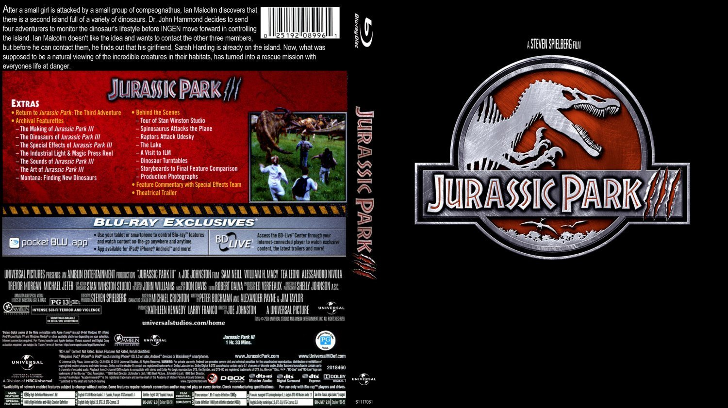 Jurassic Park III | Dvd Covers and Labels