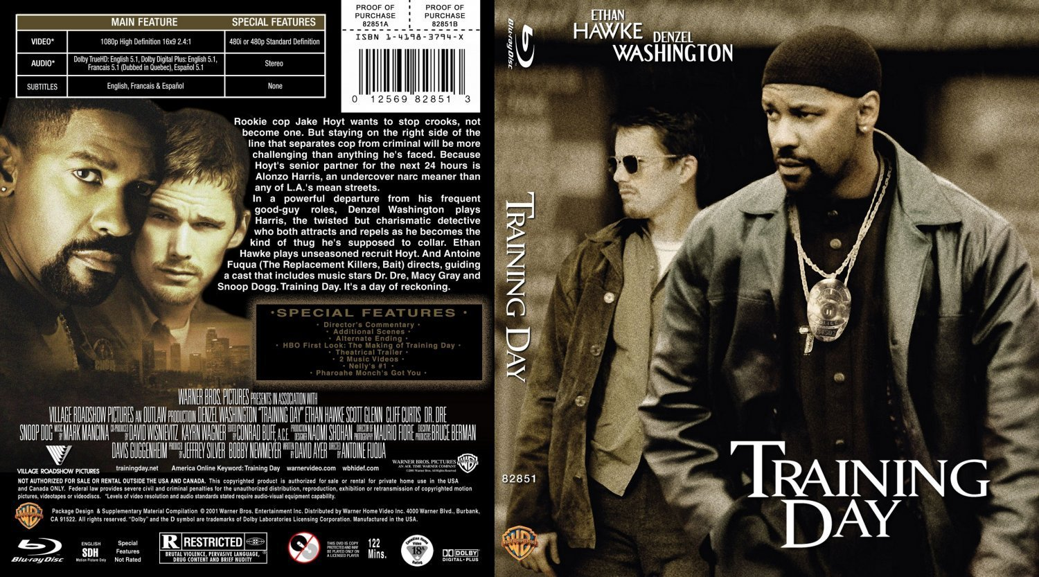 Training Day Blu ray | Dvd Covers and Labels
