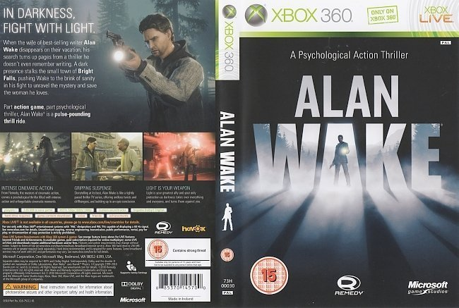 dvd cover Alan Wake (2010) PAL