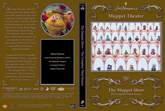 dvd cover The Muppet Show Season Three
