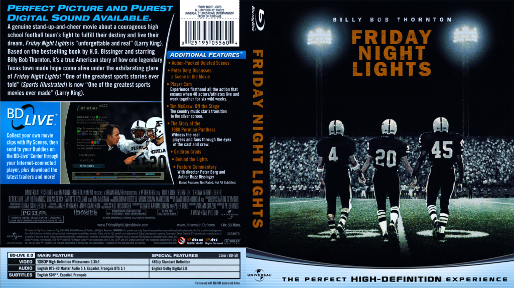 compare and contrast friday night lights book and movie