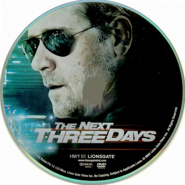 dvd cover The Next Three Days (2010) R1