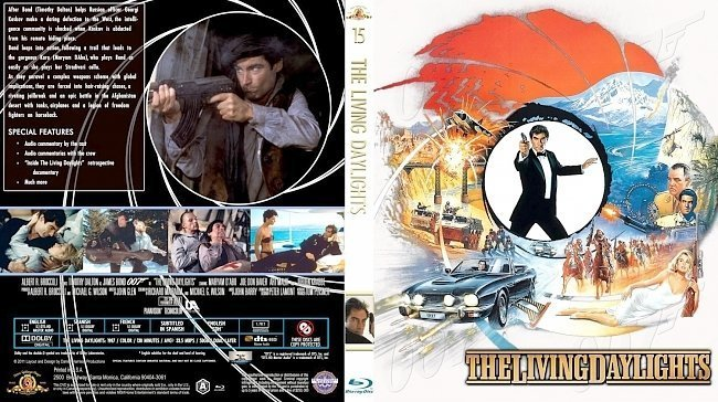 dvd cover The Living Daylights Bluray