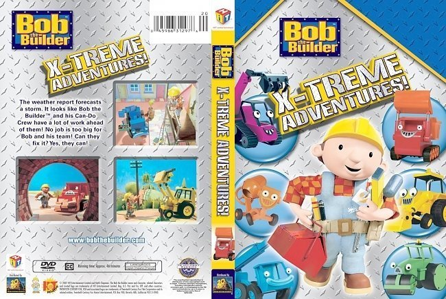 dvd cover Bob The Builder X Treme Adventures