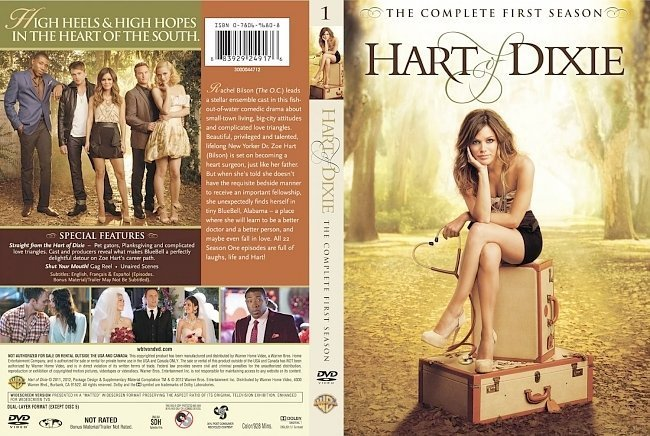 dvd cover Hart Of Dixie Season 1