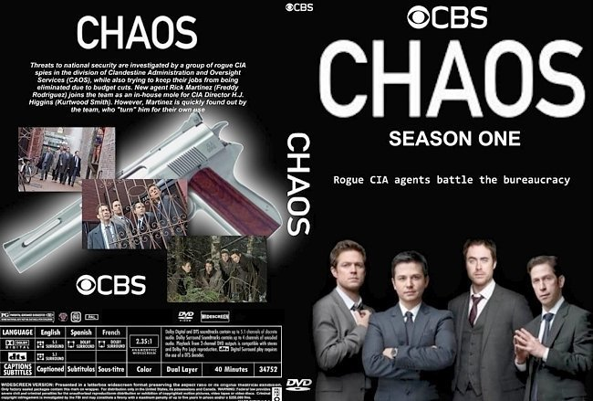 dvd cover Chaos: Season 1 (2011) R1 CUSTOM