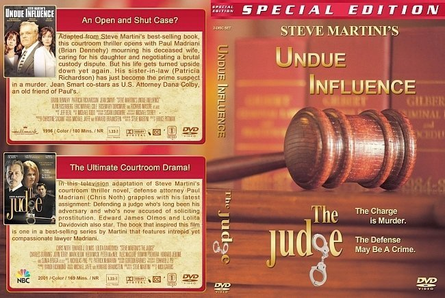 dvd cover Steve Martini's Undue Influence / The Judge