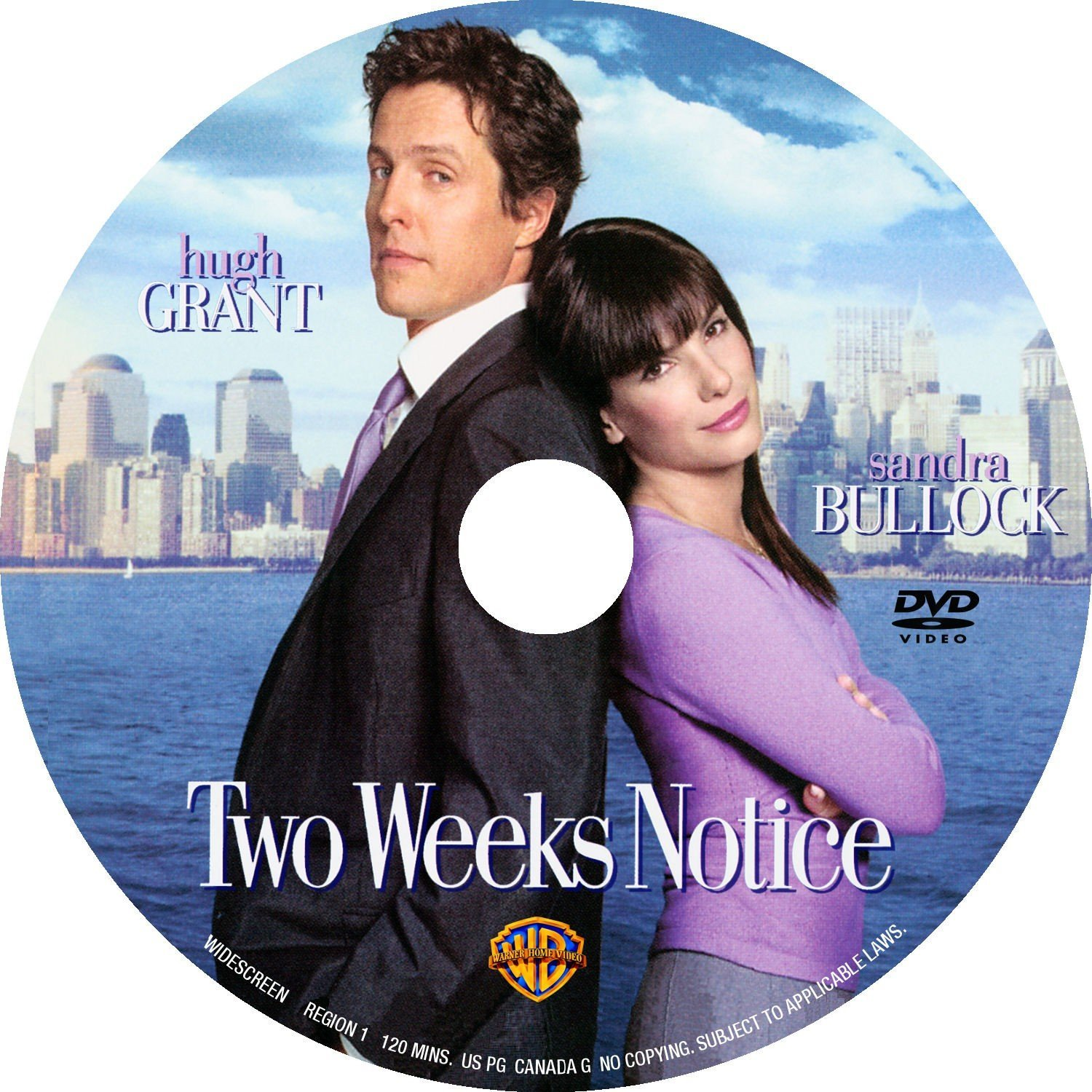 Two Weeks Notice 2002 Ws R1 Dvd Covers And Labels