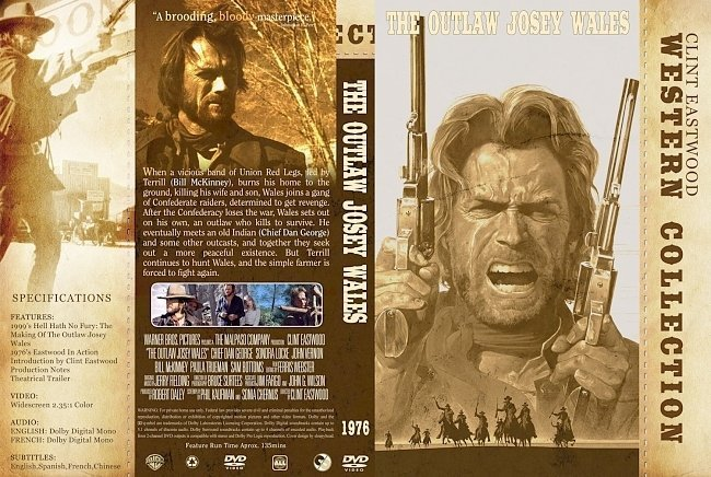 dvd cover The Outlaw Josey Wales