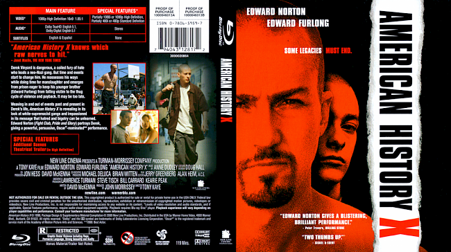 dvd cover American History X