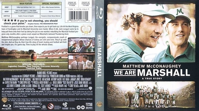 dvd cover We Are Marshall Bluray f
