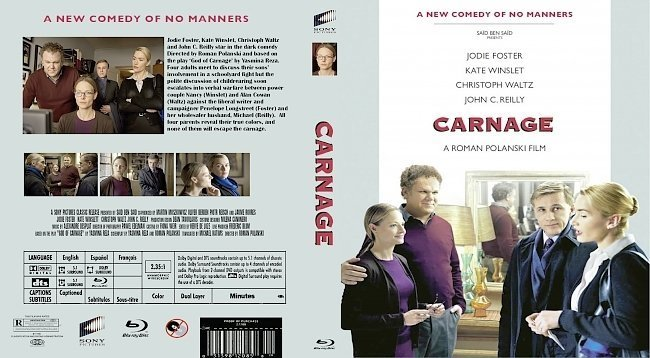 dvd cover Carnage (2011)