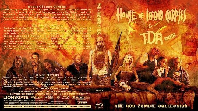 dvd cover House of 1000 Corpses The Devil's Rejects