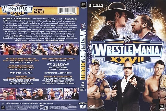 dvd cover Wrestlemania XXVII