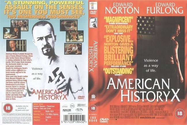 dvd cover American History X (1998) R2