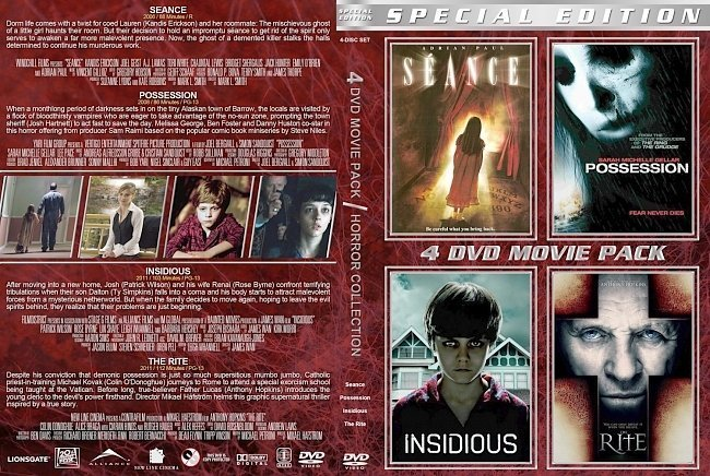 dvd cover Possession Collection