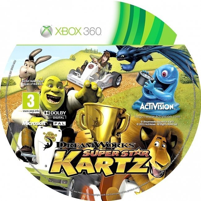 dvd cover Dreamworks Super Star Kartz PAL Custom