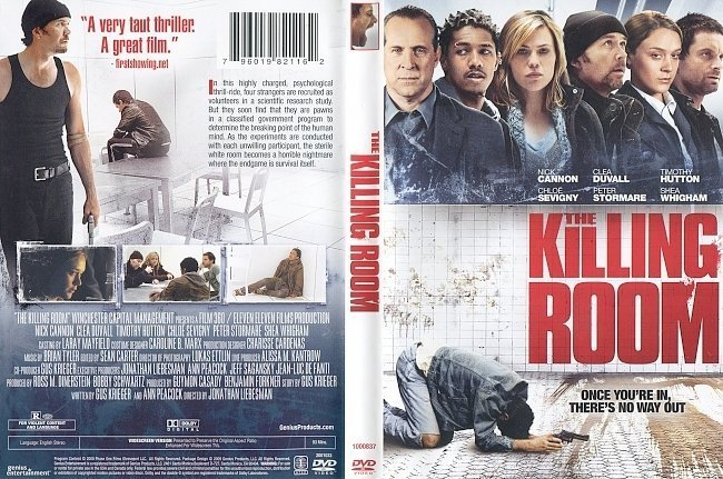 dvd cover The Killing Room (2009) WS R1