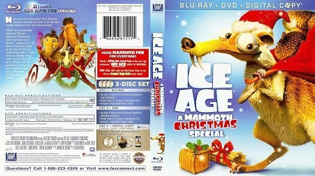 dvd cover Ice Age A Mammoth Christmas