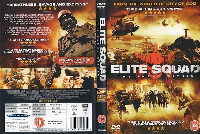 dvd cover Elite Squad: The Enemy Within (2010) R2