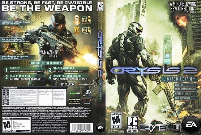 dvd cover Crysis 2