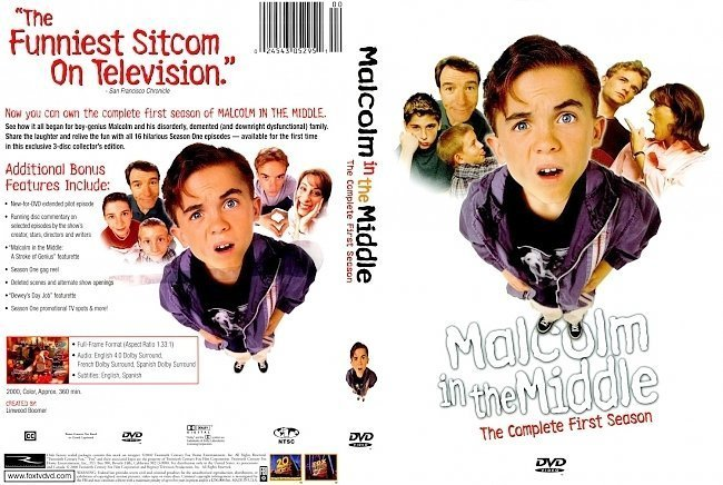 dvd cover Malcolm In The Middle Series 1 FRONT